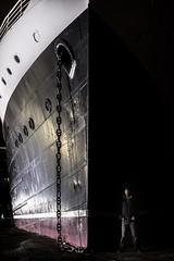 (BadGunman) Tags: autoportrait water sea canon longexposure darkness light beach pyrénéesorientales france barcares lydia cruiseboat cruise boat