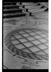 P61-2018-037 (lianefinch) Tags: argentique argentic analogique analog monochrome blackandwhite blackwhite bw noirblanc noiretblanc nb graphic graphique sol floor architecture petit palais mosaique mosaic paris