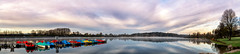 Stausee Losheim 5 (Wolfgang Staudt) Tags: losheimamsee sorgelösenangeregte stauseelosheim saarland deutschland germany boote wolkenformationen sonnenaufgang morgenstimmung morgenrot natur see ufer naturparksaarhunsrueck earlymorning wald morningwalk spiegelung reflection outdoor wasser himmel wolken