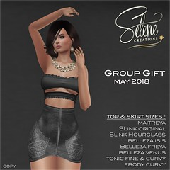 Group gift may 2018 (Selene Morgan) Tags: group gift top skirt bento maitreya lara slink hourglass physique original belleza isis freya venus ebody tonic fine curve