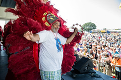 Golden Eagles Mardi Gras Indians at the New Orleans Jazz and Heritage Festival on Sunday, April 29, 2018