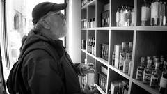 Decisions (downstreamer) Tags: edinburgh grassmarket scotland bw monochrome noiretblanc whiskey