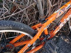 Scott Voltage JR 24 Disc 2010 this is Strange Steel wire _2623 (mtbboy1993) Tags: voltage scott disc bike 24er 2010 orange kids 24 jr steel wire rust insertion limit strange wrapped seatstay seatpost