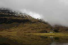 Achnambeithach Cottage Below The Clouds (d1939m) Tags: europe scotland uk landscape travel colour color secluded mountainous mountain highland achnambeithachcottage ballachulish ballachulishslate clouds cloudy rain tourism loch