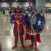 Samurai Spidey and Gladiator Cap III (misterperturbed) Tags: avengers awesomecon awesomecon2018 awesomecondc2018 captainamerica spiderman washingtondc samurai gladiator marvel