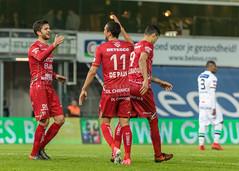 WAREGEM, 01-04-2018, Regenboogstadion. Jupiler Pro League Play-Off 2. SV Zulte Waregem - OH Leuven. (SV Zulte Waregem - ESSEVEE) Tags: waregem 01042018 regenboogstadionjupilerproleagueplayoff2svzultewaregemohleuven doelpunten14'harbaoui10 35'gorius11 69'depauw21 87'kostovski22 gelekaartenschuermans walsh maertens moore rodekaartendiedhiou esseveebossut defauw baudry derijck harbaoui kaya depauw83'coopman jensen89'saponjic desart hamalainen46'walshenolayinka ohleuventhamsatchanan tshimanga schuermans aguemon storm gorius78'gorius diedhiou libert persoons77'kostovskienmaertens football belgium vlaanderen be