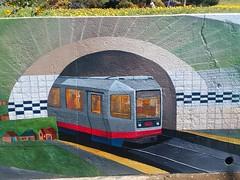Twin Peaks Tunnel commemorated on its centennial (sftrajan) Tags: mural precitaeyes foresthill publicart lagunahonda sanfrancisco 2018 lagunahondaboulevard twinpeakstunnel muni centennial lrv streetcar transit санфранциско калифорния сша