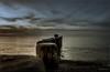 Nienhagen - Buhne - Abendlicht (Pana53) Tags: photographedbypana53 pana53 naturundlandschaftsfotografie naturfoto landschaft landscape abend lichtschatten meer ostsee balticsea wolken clouds himmel sky pfähle wasser nikon nikond500 holz nienhagen buhne