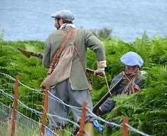 Close combat (afagen) Tags: scotland uk unitedkingdom greatbritain innerhebrides isleofmull mull duartcastle castle fraserdragoones reenactor bayonet