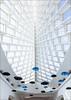 Soaring (49967) (Kurt Kramer) Tags: milwaukee entryhall greathall mam milwaukeeartmuseum umbrellas calatrava lattice white blue architecture soaring brisesoliel museum art