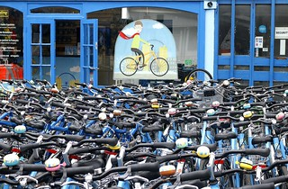 Bikes for hire. Good availability....