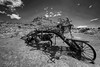 Antique Grader (RH Miller) Tags: rhmiller reedmiller equipment landscape antiqueequipment grandcanyon toroweaprangerstation arizona usa bw