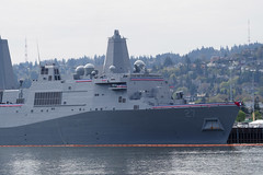 USS Portland Commissioning II (PDX Bailey) Tags: river willamette oregon portland commission commissioning april uss us navy naval gray grey hill hillside hills house sky red white blue