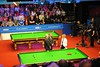 Live on BBC2 from the Crucible Theatre (zawtowers) Tags: world snooker championship 2018 betfred crucible theatre sheffield thehomeofsnooker first round saturday 21st april afsnikkor50mmf18g 50mm fifty bbc2 live broadcast hazel irvine steve davis john parrott table two presenting consummate professional