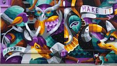 - Make it..- (Jacqueline ter Haar) Tags: rotterdam iameelco muralist mural painting wallpainting bloemkwekersstraat makeithappen