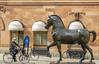 Bronze horse Sculpture at Blasieholmen -Explored 24/04/2018- (PriscillaBurcher) Tags: bronzehorsesculpture blasieholmen stockholm sievertlindblom bicycle explored l1290022