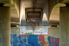 Urban Poetry (*Chris van Dolleweerd*) Tags: urban street streetphotography chrisvandolleweerd bridge bicycle man architecture