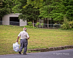 Bringing Home the Groceries (augphoto) Tags: augphotoimagery candid man pedestrian person shopper walker walking newberry southcarolina unitedstates