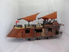 Lego Jabba Sail Barge (Artybee) Tags: lego jabba hutt sail barge star wars episode vi r2d2 redyees princess leia max rebo weequayskiff