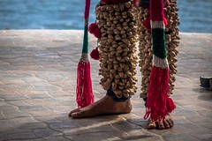The shells on the leg are for light percussion while dancing the traditional Yaqui deer head dance