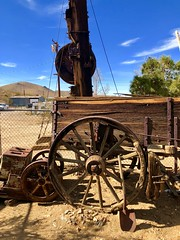 Randsburg, CA (- Adam Reeder -) Tags: california united states unitedstates west coast pacific ca wwwkk6gpvnet kk6gpv adam reeder adamreeder areed145 paddlewheel cannon y2018 m02 d03 lat350 lon1180 randsburg kern photo jpg apple iphone x fountain carousel unicycle restaurant pier drillingplatform cab plow car
