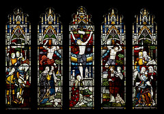 The Crucifixion (badger_beard) Tags: st saint mary virgin church fen ditton cambridge crucifixion passion christ jesus cross easter pasqua pasquetta påsk oster stained glass clayton bell dismas gestas victorian
