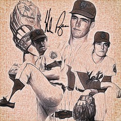65 - Nolan Ryan (Bob Smerecki) Tags: smackman snapnpiks robert bob smerecki sports art digital artwork paintings illustrations graphics oils pastels pencil sketchings drawings virtual painter 6 watercolors smart photo editor colorization akvis sketch drawing concept designs gmx photopainter 28 draw hollywood walk fame high contrast images movie stars signatures autographs portraits people celebrities vintage today metamorphasis 002 abstract melting canvas baseball cards picture collage jixipix fauvism infrared photography colors negative color palette seeds university michigan football ncaa mosaic