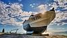 Varada en tierra. (zapicaña) Tags: zapigata cabodegata cielo clouds sky barco barca boat nubes