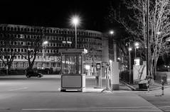 Night (frankdorgathen) Tags: spiegelung reflection banality mundane light electricity dark nacht night langzeitbelichtung longtimeexposure urban city rüttenscheid ruhrpott ruhrgebiet essen exhibition messe parking