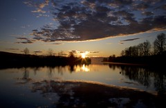 Rise (chris.ph) Tags: easter sunrise hope renewal water reflection clouds beauty prayer fortlangley bedfordchannel
