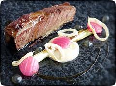Beef, onions and tarragon (gro57074@bigpond.net.au) Tags: berowrawatersinn tarragon onions beef beefonionsandtarragon michelinstar finedining food
