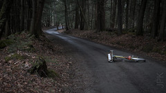 Road not maintained for winter use. (koperajoe) Tags: romanceur backgrounds bicycle westernmassachusetts swoopyroads 650b gravelgrinding newengland velo