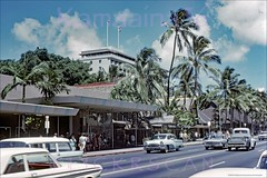 Liberty House Kalakaua Ave 1965 (Kamaaina56) Tags: 1960s waikiki hawaii streetview libertyhouse packard slide