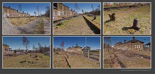 The changes on the old Woodhead platforms at Penistone - 6651+53+54+55+57+59