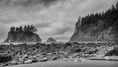 Inbound route and conditions (D. Inscho) Tags: olympiccoast pointofthearches pacificnorthwest beach washington seastack