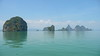 Thailand on a String (of Islands) (Eye of Brice Retailleau) Tags: angle beauty composition landscape nature outdoor paysage perspective scenery scenic view extérieur backpacking earth travel vista light water waterscape eau calme sunny summer sea ocean seaside oceanside coast boat bateau colourful colours panorama asia asie thailand thailande phangnga blue bleu green vert