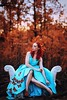 Monarch Queen (Kelly McCarthy Photography) Tags: woman beautiful beauty fashion style glamour photography fineart redhead redhair butterflies butterfly gown dress teal blue colorful catchycolorsblue catchycolorsred catchycolorsorange autumn fall forest fairytale fantasy editorial nature portrait portraiture conceptualmagazine