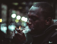 light it ! (Glass_rabbithole) Tags: smoke art rap harlem newyorkcity darkphotography portrait portraits canon 50mm vintage