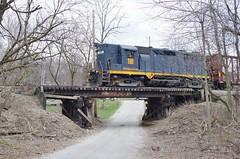 WLE 110 (Fan-T) Tags: goingaway bridge 302 rio grande gp40 gp35 110 mogadore ohio wle wheeling lake erie