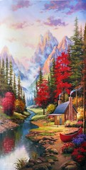 Fairyland, Art Painting / Oil Painting For Sale - Arteet™ (arteetgallery) Tags: arteet oil paintings canvas art artwork fine arts maple autumn season leaves fall leaf november yellow tree forest orange plant october colorful color trees design landscape seasonal natural gold outdoors floral flower bright decoration brown wallpaper backgrounds colour spring september sky scenery vibrant reflection scene peaceful house home landscapes surreal fantasy pastorals red cyan paint