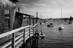 Relaxing moments (Rabican7) Tags: maine harbor ocean sailing sunset calmness chillout new england monochrome bw port boothbayharbor