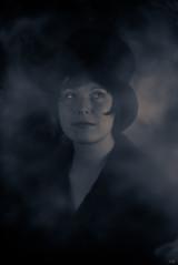 moonlight I (*altglas*) Tags: portrait bw monochrome toned projectionlens 35kp18120 moonlight hat fog nebel hut