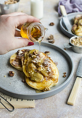 pancakes (olimpia davies) Tags: food foodstyling foodphotography foodphotographer foodstylist foodart foodlovers fresh family fruits foodgasm photography pancakes breakfast background banana blogger