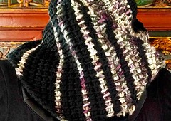 Burly Bias seamed as cowl (vashtirama) Tags: tunisiancrochet tss diagonalrows diagonalcrochet offset crochetclass crochetcowl crochetscarf striped stripes bulkyyarn seaming seamless rectangle crochetbeginner easycrochet shaped