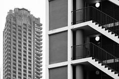 Bowater & Lauderdale (cybertect) Tags: bowaterhouse carlzeisssonnart135mmf28 chamberlinpowellandbon cityoflondon corporationoflondon ec1 ec2 goldenlane goldenlaneestate lauderdaletower london londonec1 londonec2 modernism sonya7 thebarbican architecture blackwhite blackandwhite building concrete monochrome skyscraper socialhousing