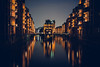 speicherstadt (thethomsn) Tags: speicherstadt hamburg night illuminated architecture water city longexposure travel moody deutschland germany thethomsn canon