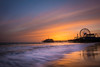 Santa Monica Pier (Adam Saltman) Tags: yellow santa monica pier sunset los angeles
