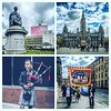 On This Day: 30th April 2015 - A Trip to Glasgow #statue #georgesquare #glasgow #piper #kilt #protest #march #union #bagpipes #bagpipesnkilts (FotoFling Scotland) Tags: statue unions protest georgesquare piper kilt glasgow