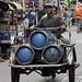 Entrega de gas en Bangkok, Tailandia