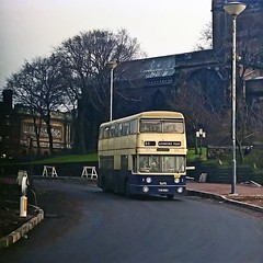 Jumbo Fleetline, Wolverhampton, 1975 (David Rostance) Tags: 3981 tob981h wmpte parkroyal wolverhampton daimler fleetline